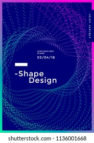 Minimal cover design with gradient dotted shape. Modern brigth backgrounds for flyer, poster, brochure. Vector graphics