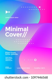 Minimal cover design with halftone gradient blend shape. Futuristic poster template.