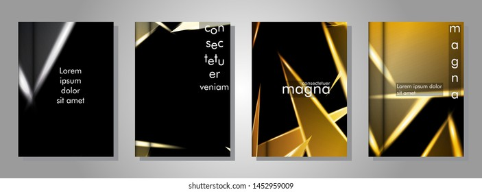 Minimal cover design. Triangular shape vector design background. Applicable for brochures, posters, covers ,banners ,etc