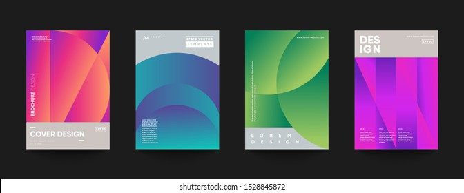 Minimal cover temaplates. Modern gradient shapes composition. Eps10 vector.