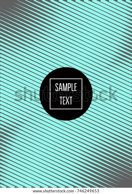 Minimal cover template. Elegant male stripes background. Grey, turquoise noble simple pattern. Lofty clean minimal cover design. Futuristic funky hipster background for posters, placards, banners, ads