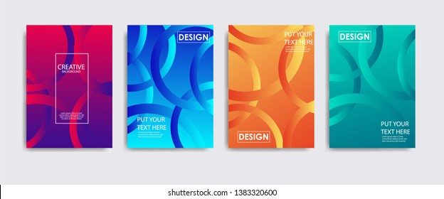 Minimal covers design. Colorful halftone gradients.background modern template design for web. Simple shapes with trendy gradients. Eps10