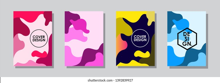 Minimal covers design. Colorful halftone gradients. Future geometric patterns. very suitable for your work project. Vector Eps10.