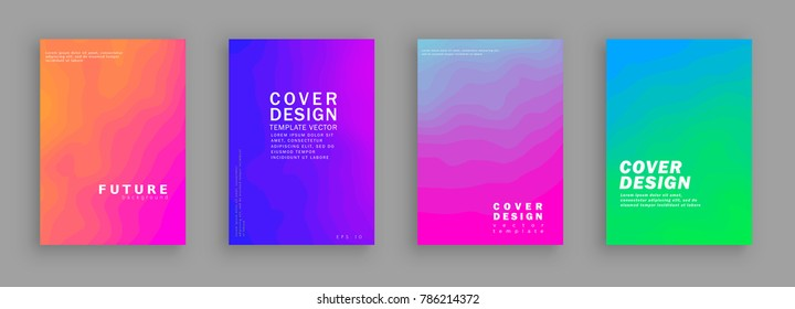 Minimal covers design. Colorful halftone gradients. Background abstract patterns. Vector template brochures, flyers, presentations, leaflet, magazine a4 size