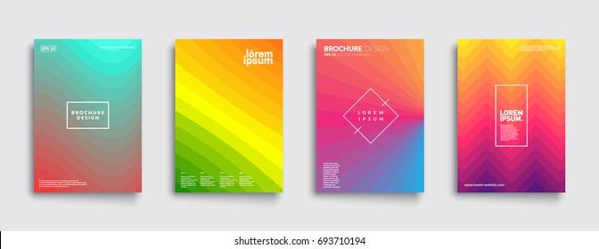 Minimal covers design. Cool geometric gradients. Eps10 vector.