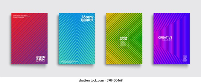 Minimal covers design. Cool halftone gradients. Future geometric template. Eps10 vector.