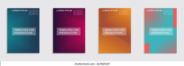 Minimal covers design. Cool halftone gradients.