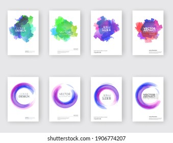 Minimal covers design. Cool paint rounds. Vector illustration