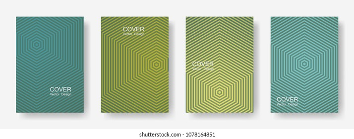 Minimal covers design with hexagon lines. Geometric halftone gradient backgrounds.  Digital Future geometric patterns with hexagons. Halftone lines texture backgrounds design.