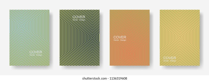 Minimal covers design with hexagon lines. Geometric halftone gradients.  Advertising Eps10 vector. Future geometric patterns with hexagon shape. Halftone lines texture backgrounds.