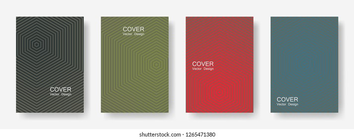 Minimal covers design with hexagon lines. Geometric halftone gradient backgrounds.  Banners Eps10 vector. Future geometric patterns with hexagon shape. Halftone lines texture backgrounds.