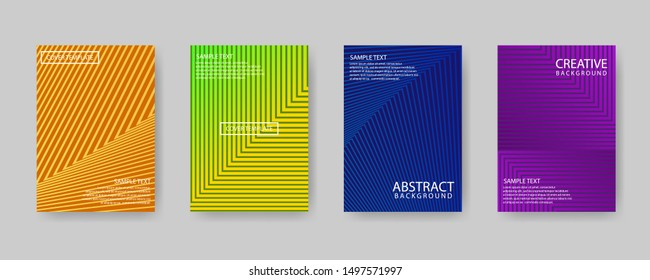 Minimal covers design. Modern background with abstract texture for design template. Colorful halftone gradients. Future geometric patterns.