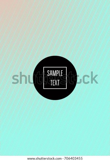 Minimal Covers Template Vector Stripes Elegant Stock Vector