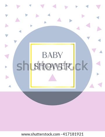 minimal design baby shower invitation card vector illustration creative design printable greeting card art - Printable Invitation Card Stock