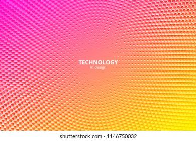 Minimal design background. Vector colorful halftone gradients. Futuristic geometric patterns. Vector granular texture. Pink texture.
