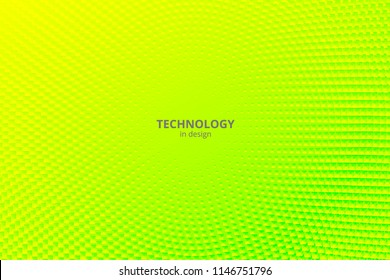 Minimal design background. Vector colorful halftone gradients. Futuristic geometric patterns. Vector granular texture. Yellow green background.