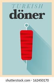 Minimal Doner Poster Design