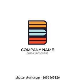 Minimal e letter logo