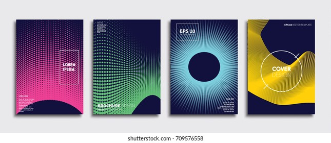 Minimal Editorial Vector covers design. Future Poster template.