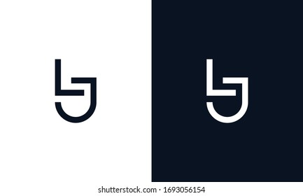 Minimal elegant line art letter LJ logo. This logo icon incorporate with letter L and J in the creative way.