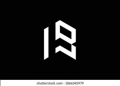 Minimal elegant monogram art logo. Outstanding professional trendy awesome artistic WB BW initial based Alphabet icon logo. Premium Business logo. White color on black background