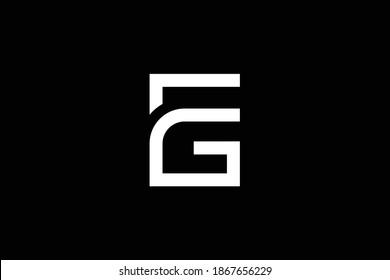Minimal elegant monogram art logo. Outstanding professional trendy awesome artistic EG GE initial based Alphabet icon logo. Premium Business logo. White color on black background