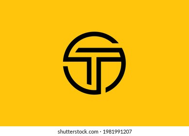 Minimal elegant monogram art logo. Outstanding professional trendy awesome artistic ST TS initial based Alphabet icon logo. Premium Business logo.