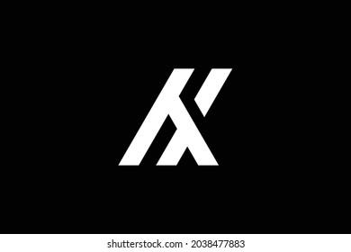 Minimal elegant monogram art logo. Outstanding professional trendy awesome artistic HX XH initial based Alphabet icon logo. Premium Business logo.