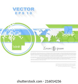 Minimal flat tech bright background. Vector abstract design
