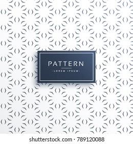 minimal flower decorative pattern background design