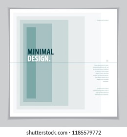 Minimal flyer, booklet, annual report cover template. Web, commerce or events vector graphic design template. Cover with minimal geometric design.