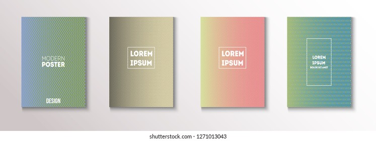 Minimal Futuristic Music Poster, Trendy Vector Cover Design. Green, Pink, Blue, Gray Geometric Blend Presentation, Notebook Print. Magazine Minimal Cover, Banner. Hipster Tech Futuristic Paper Layout