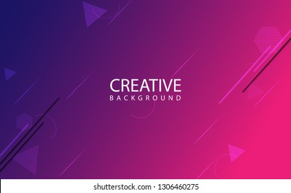 Minimal geometric background, abstract background with Dynamic shapes