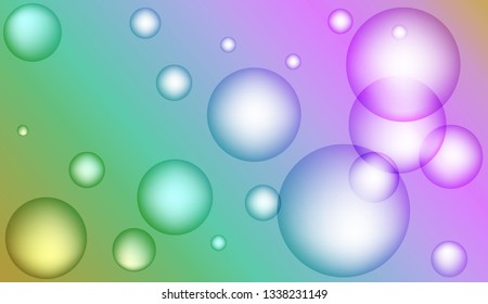 Minimal geometric background with drop. Gradient shapes composition. For your design ad, banner, cover page. Bright Gradient Color Vector illustration