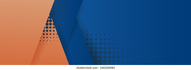 Minimal geometric background. Dynamic blue shapes composition with red lines. - Shutterstock ID 1442204381
