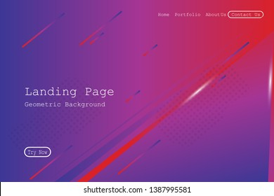 Minimal geometric background. Dynamic fluid shapes composition with Modern Abstract design for Landing page template, wallpaper,background element template