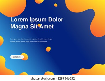 Minimal geometric background Dynamic shapes composition for landing page