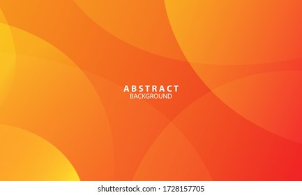 Minimal geometric background. Orange elements with fluid gradient. Dynamic shapes composition. Eps10 vector
