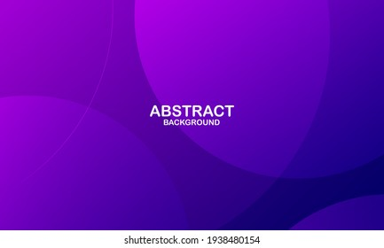 Minimal geometric background. Purple elements with fluid gradient. Dynamic shapes composition. Eps10 vector