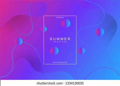 Minimal geometric composition with fluid shapes for landing page background. Liquid, wavy, gradient, flowing, dynamic shape background. Trendy and modern background color. Cool banner design template.