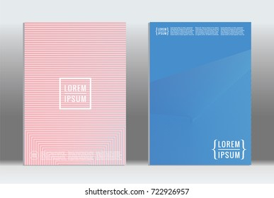 Minimal geometric cover. Vector abstract line pattern for poster design. Set of templates for business brochures. 2d prints for banner background. Graphic pattern for annual album backdrop. - Shutterstock ID 722926957