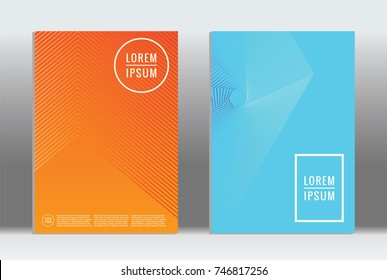Minimal geometric cover. Vector abstract line pattern for poster design. Set of templates for business brochures. 2d prints for banner background. Graphic pattern for annual album backdrop.