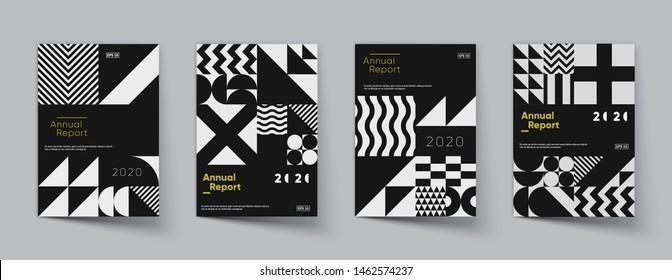 Minimal geometric covers set. Trendy design. Eps10 vector.