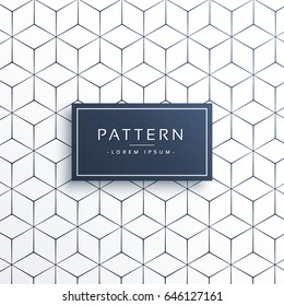 minimal geometric line pattern background in hexagonal shape