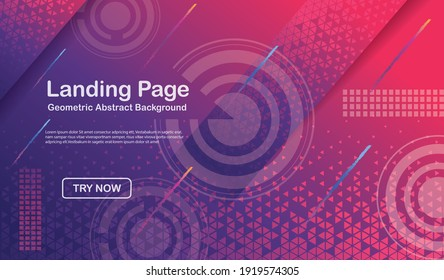 Minimal geometric triangle halftone background. new design dynamic shapes composition gradient colors. vector illustration.