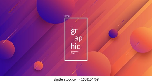 Minimal geometric wallpaper. Trendy gradient colors. Eps10 vector.