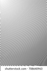 Minimal grey scale A4 cover design. Halftone vector bent uneven lines or stripes, modern business background. Vertical simple cover for presentation, network, computer technology clean background.