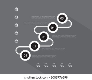 Minimal infographic design, vector template