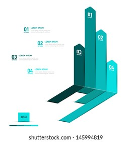Minimal infographics design. Vector