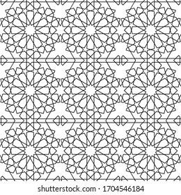 minimal islamic ornament pattern. islamic ornamental vector pattern